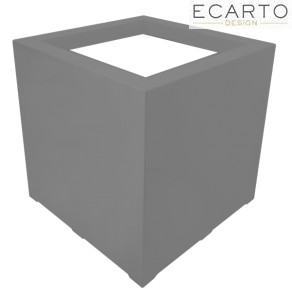 Donica CUBO 100x100x80 ANTRACYT MAT